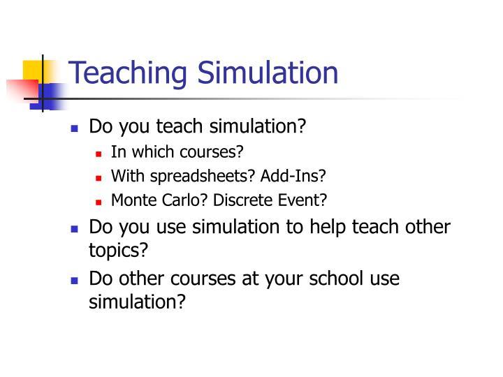 Teaching simulation2