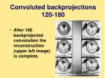 convoluted backprojections 120 180
