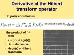 derivative of the hilbert transform operator
