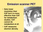 emission scanner pet