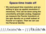 space time trade off
