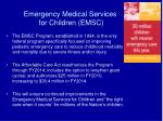 emergency medical services for children emsc