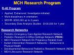 mch research program