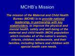 mchb s mission
