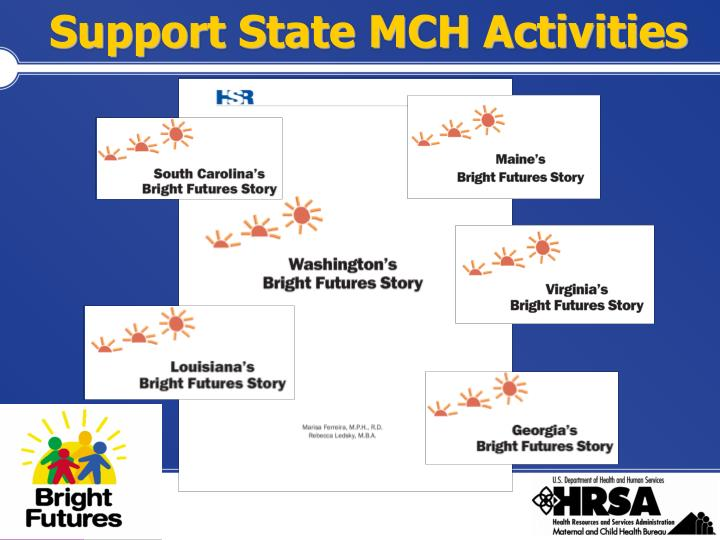Support State MCH Activities