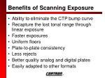 benefits of scanning exposure