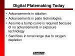 digital platemaking today