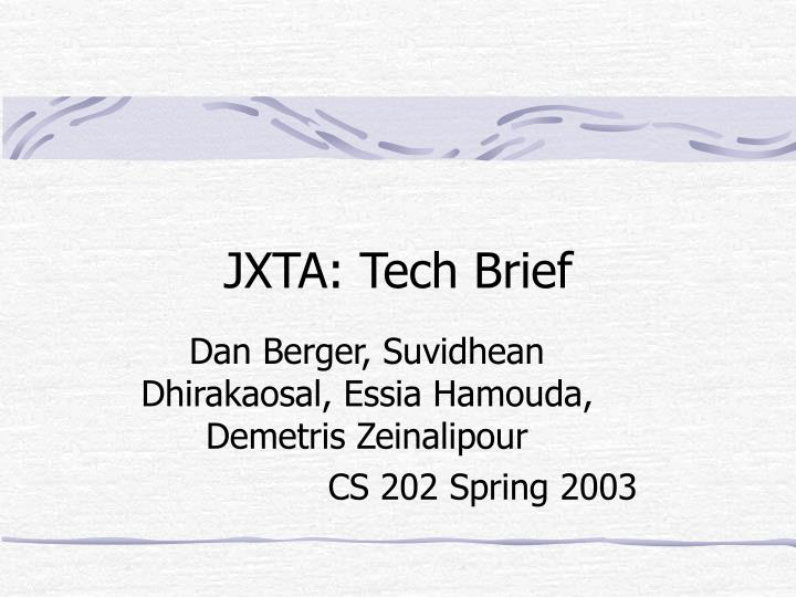 Jxta tech brief