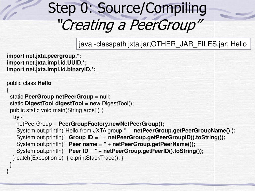 Step 0: Source/Compiling