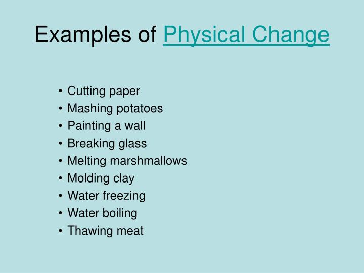 Ppt Physical Change Vs Chemical Change Powerpoint Presentation
