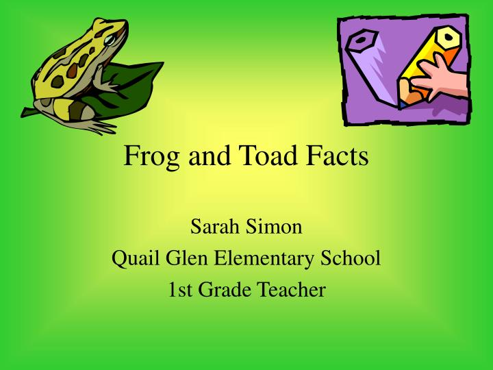 frog and toad facts n.