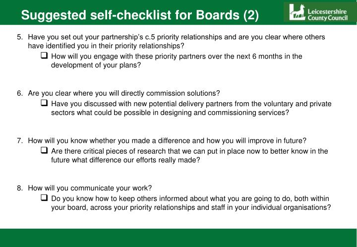 Suggested self-checklist for Boards (2)