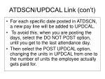 atdscn updcal link con t