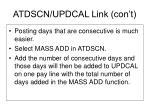 atdscn updcal link con t6