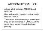 atdscn updcal link