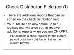 check distribution field con t