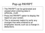 pop up payrpt