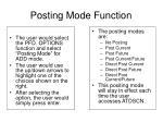 posting mode function