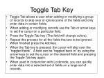 toggle tab key