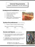 underground installations 29 cfr 1926 651 b