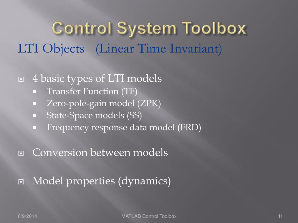 PPT - MATLAB and its Control Toolbox PowerPoint Presentation - ID:547007