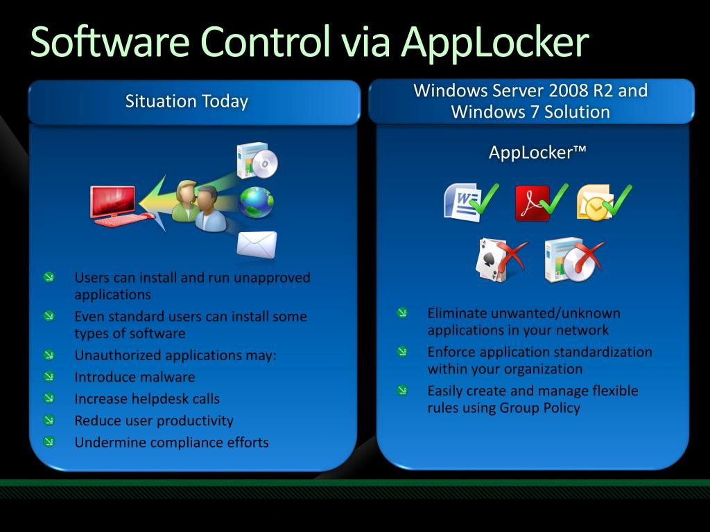 Software Control via AppLocker