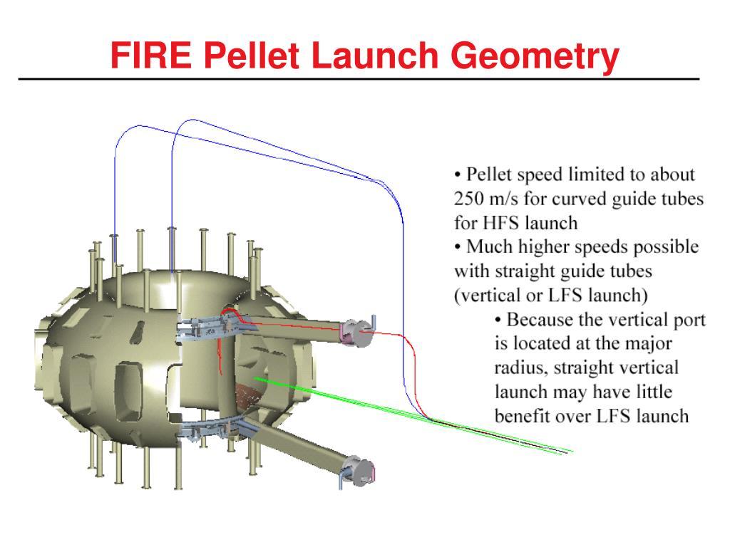 FIRE Pellet Launch Geometry
