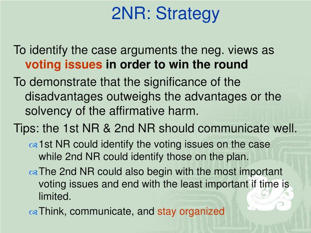 2NR: Strategy