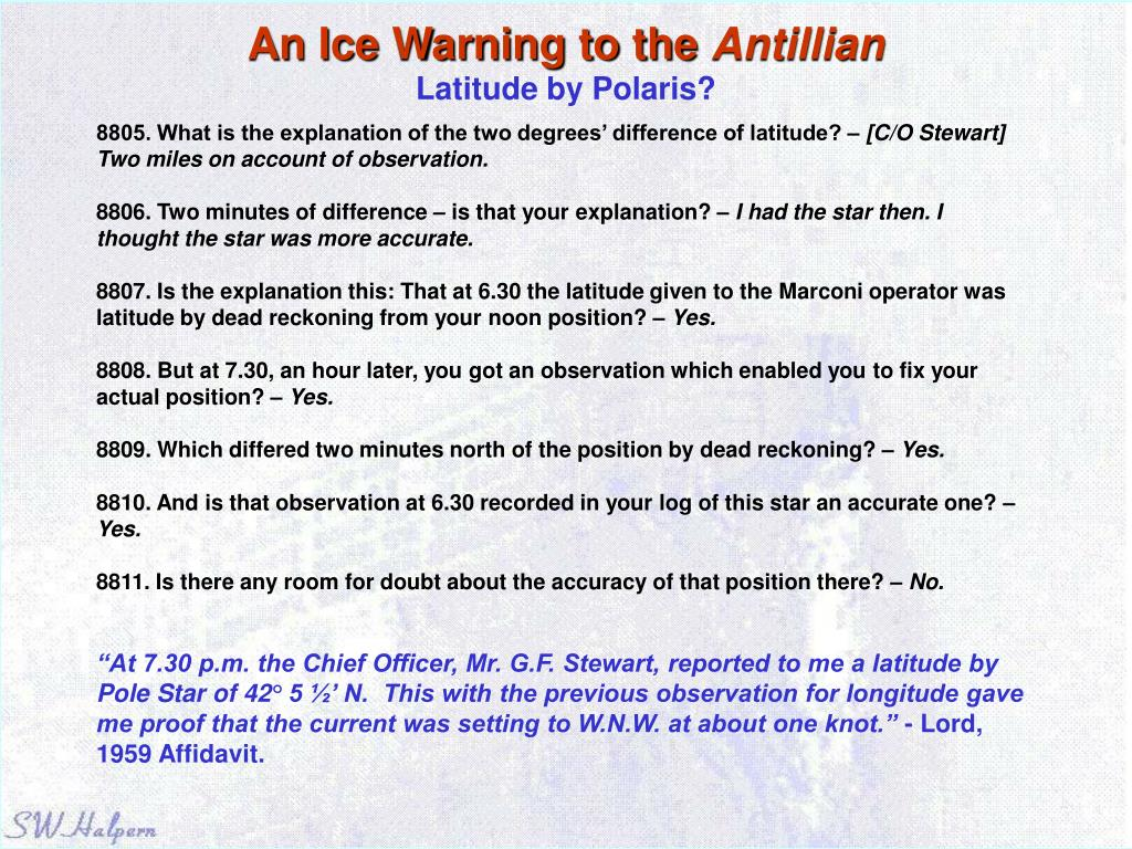 An Ice Warning to the