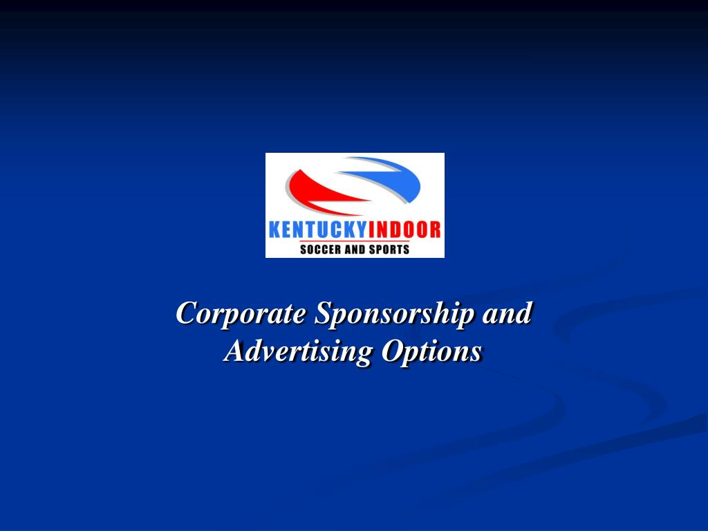 corporate sponsorship and advertising options l.