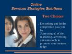 online services strategies solutions