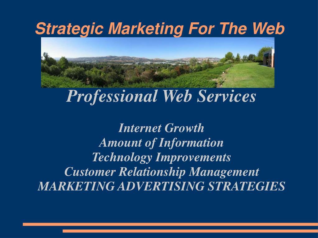strategic marketing for the web l.