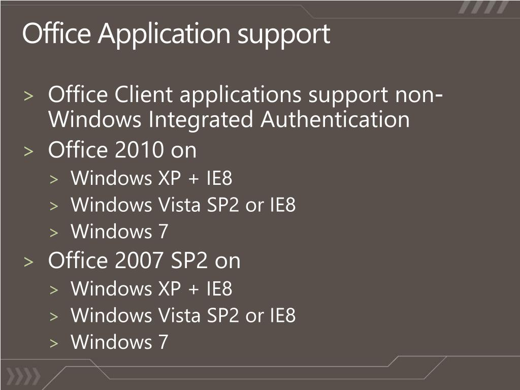 Office Application support