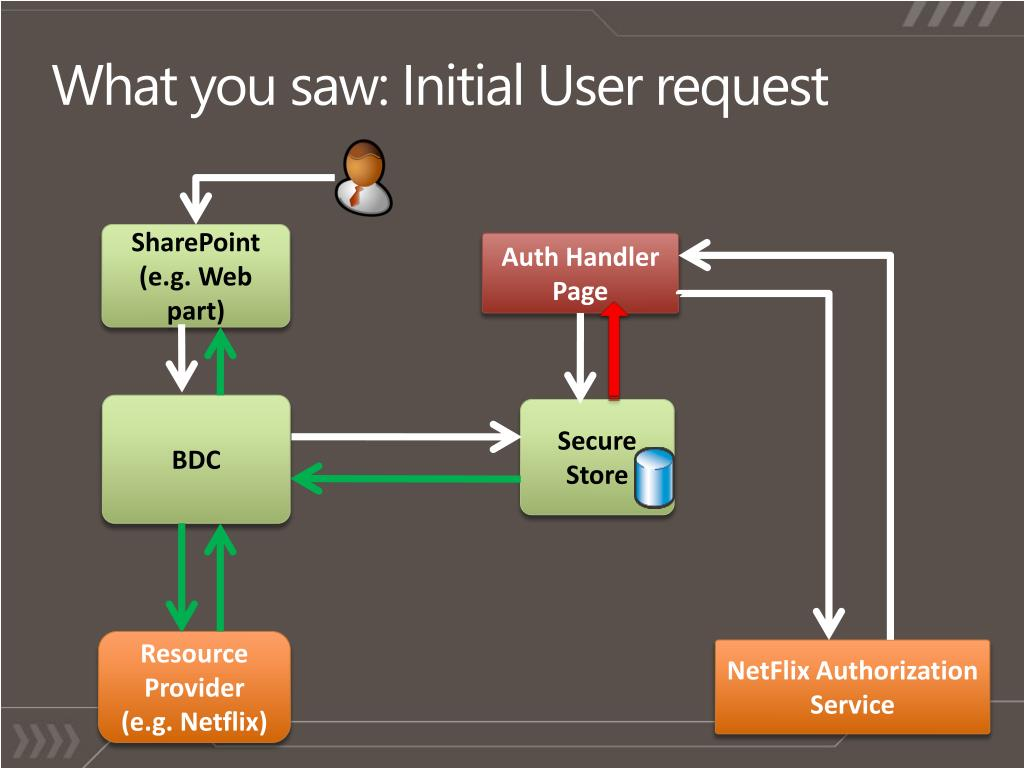 What you saw: Initial User request