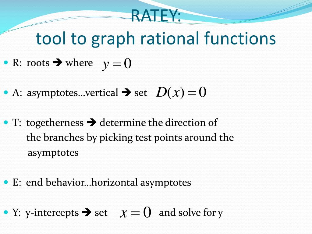 PPT - Graphing Rational Functions PowerPoint Presentation