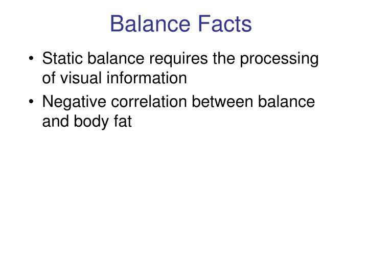 Balance Facts