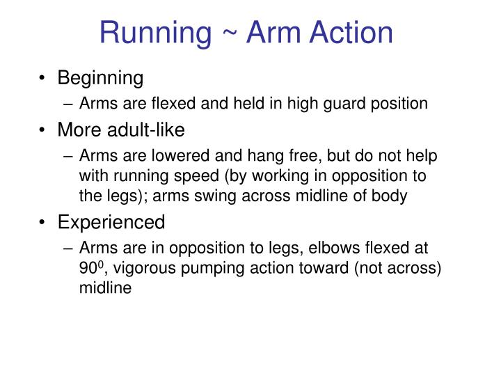Running ~ Arm Action
