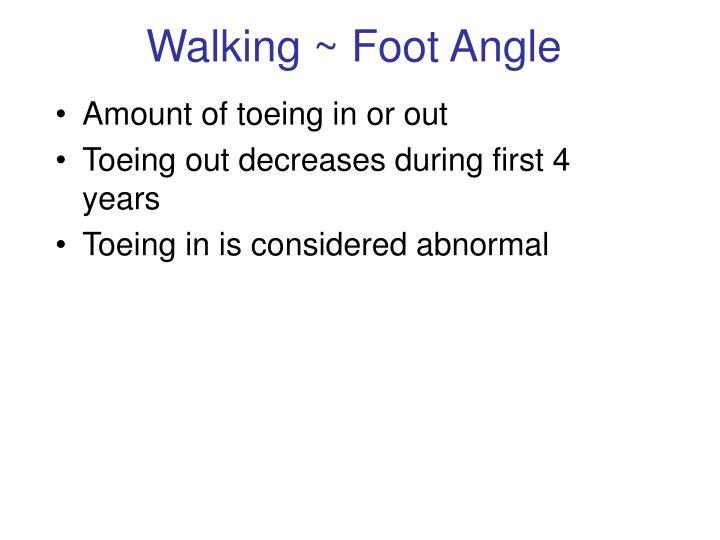 Walking ~ Foot Angle