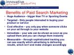 benefits of paid search marketing