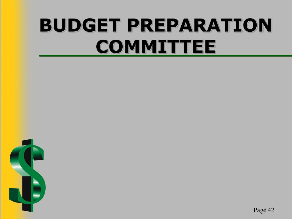 BUDGET PREPARATION COMMITTEE