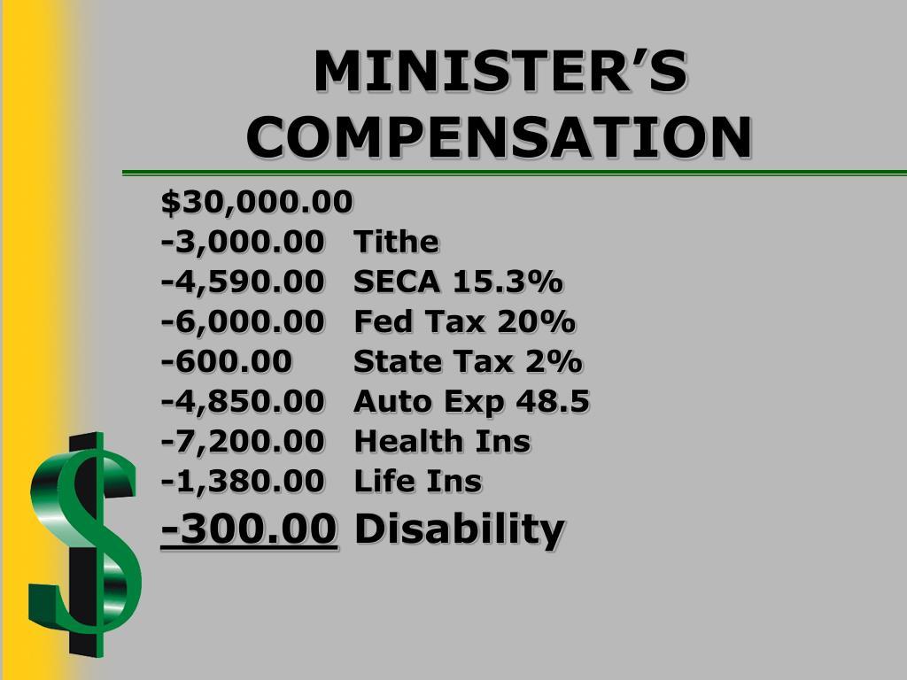 MINISTER'S COMPENSATION