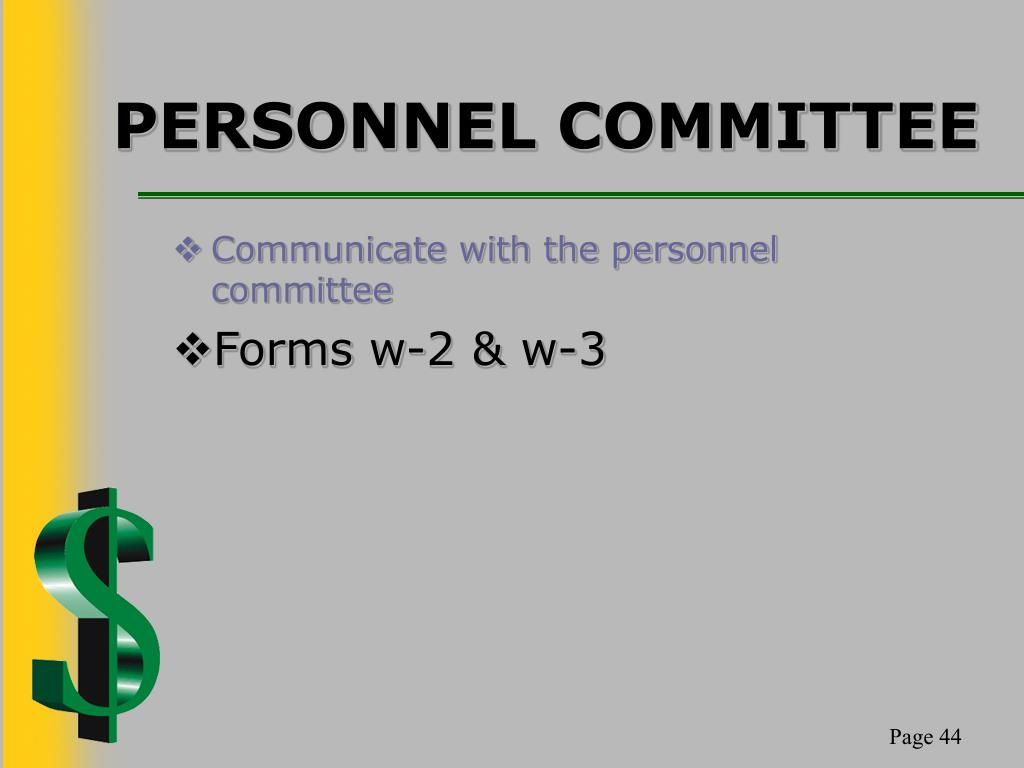 PERSONNEL COMMITTEE
