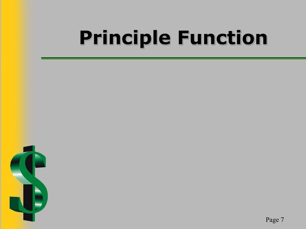 Principle Function