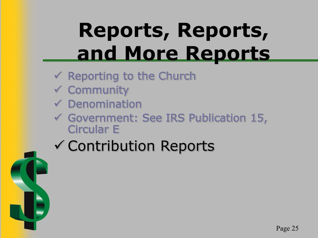 Reports, Reports,