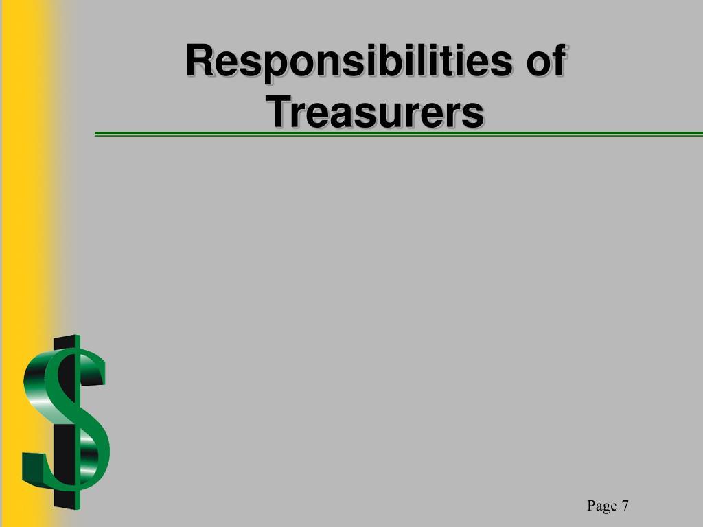 Responsibilities of