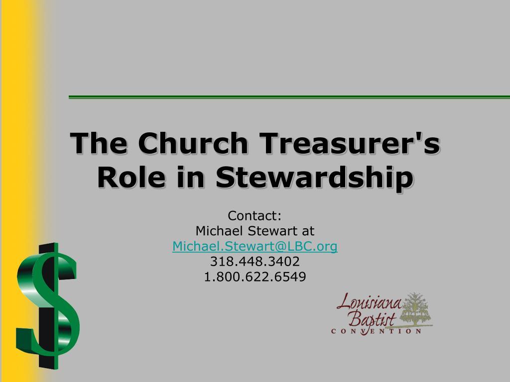 The Church Treasurer's Role in Stewardship