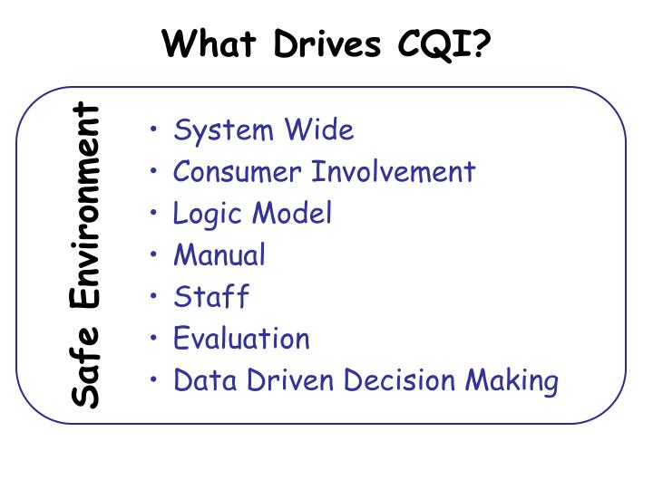 What Drives CQI?