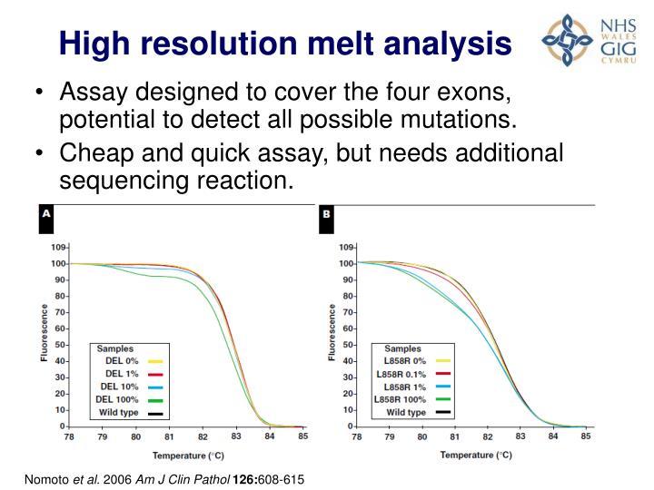 High resolution melt analysis