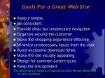 goals for a great web site