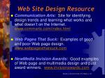 web site design resource